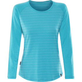 Mountain Equipment Redline Longsleeve T-shirt Dames, digital blue stripe/digital blue